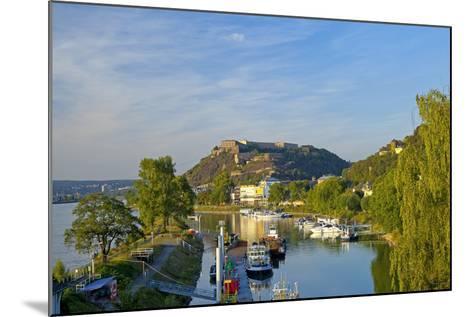 Germany, Rhineland-Palatinate, Koblenz, Ehrenbreitstein Fortress, Harbour-Chris Seba-Mounted Photographic Print