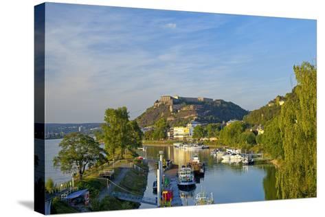 Germany, Rhineland-Palatinate, Koblenz, Ehrenbreitstein Fortress, Harbour-Chris Seba-Stretched Canvas Print