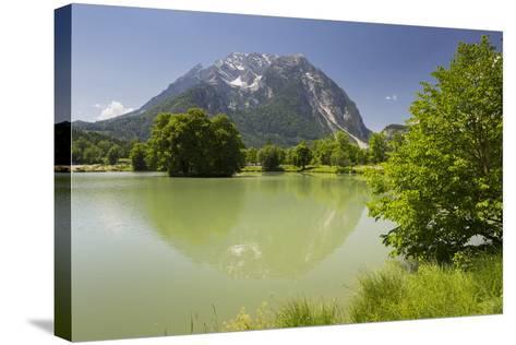 Fish Ponds Intrautenfels, Grimming, Ennstal, Styria, Austria-Rainer Mirau-Stretched Canvas Print