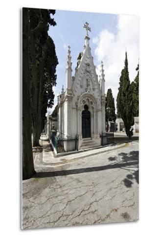 Historical Cemetery, Tombs, Funerary Chambers, Cemiterio Dos Prazeres, Prazeres, Lisbon, Portugal-Axel Schmies-Metal Print