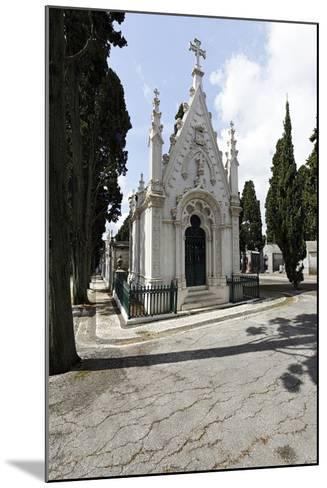 Historical Cemetery, Tombs, Funerary Chambers, Cemiterio Dos Prazeres, Prazeres, Lisbon, Portugal-Axel Schmies-Mounted Photographic Print