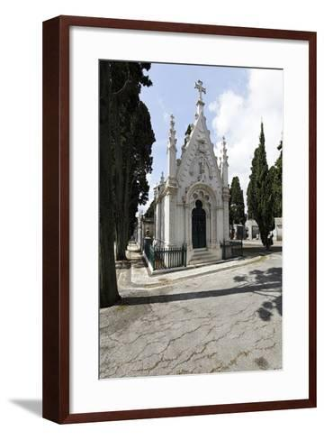 Historical Cemetery, Tombs, Funerary Chambers, Cemiterio Dos Prazeres, Prazeres, Lisbon, Portugal-Axel Schmies-Framed Art Print