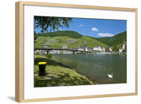 Europe, Germany, Rhineland-Palatinate, Bernkastel-Kues at Moselle River, Riverbank-Chris Seba-Framed Art Print