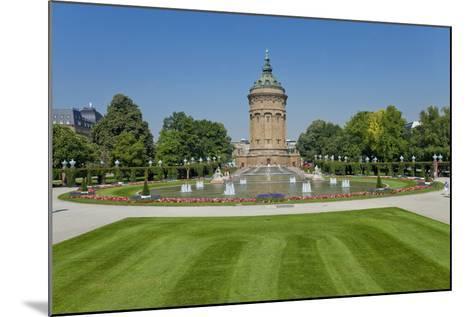 Germany, the Rhine, Baden-W?rttemberg, Mannheim, City Centre, Water Tower-Chris Seba-Mounted Photographic Print