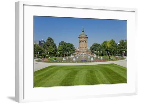 Germany, the Rhine, Baden-W?rttemberg, Mannheim, City Centre, Water Tower-Chris Seba-Framed Art Print