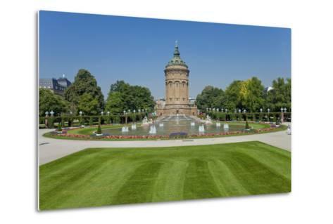 Germany, the Rhine, Baden-W?rttemberg, Mannheim, City Centre, Water Tower-Chris Seba-Metal Print
