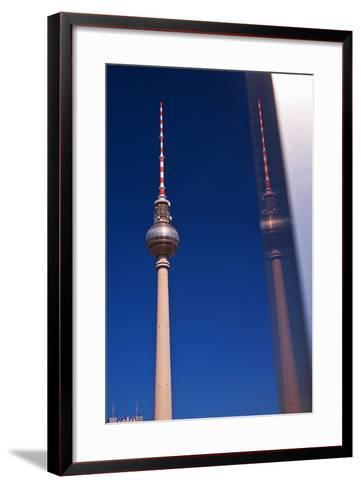 Television Tower at the Alexander Platz in Berlin-Thomas Ebelt-Framed Art Print