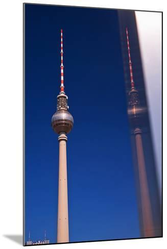 Television Tower at the Alexander Platz in Berlin-Thomas Ebelt-Mounted Photographic Print