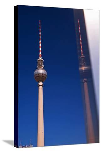 Television Tower at the Alexander Platz in Berlin-Thomas Ebelt-Stretched Canvas Print