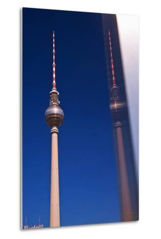 Television Tower at the Alexander Platz in Berlin-Thomas Ebelt-Metal Print