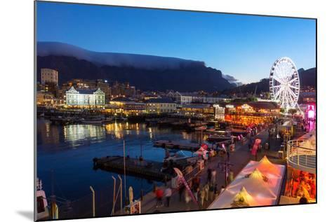 South Africa, Cape Town, V and a Waterfront, Table Mountain, Evening-Catharina Lux-Mounted Photographic Print