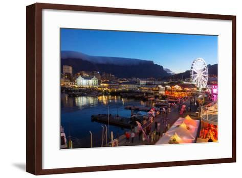 South Africa, Cape Town, V and a Waterfront, Table Mountain, Evening-Catharina Lux-Framed Art Print