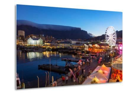South Africa, Cape Town, V and a Waterfront, Table Mountain, Evening-Catharina Lux-Metal Print