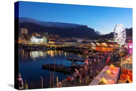 South Africa, Cape Town, V and a Waterfront, Table Mountain, Evening-Catharina Lux-Stretched Canvas Print