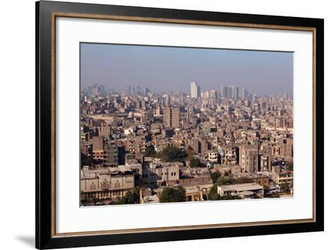 Egypt, Cairo, Citadel, View at the Islamic Old Town-Catharina Lux-Framed Art Print
