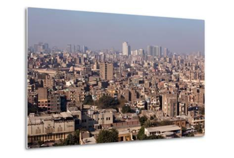 Egypt, Cairo, Citadel, View at the Islamic Old Town-Catharina Lux-Metal Print