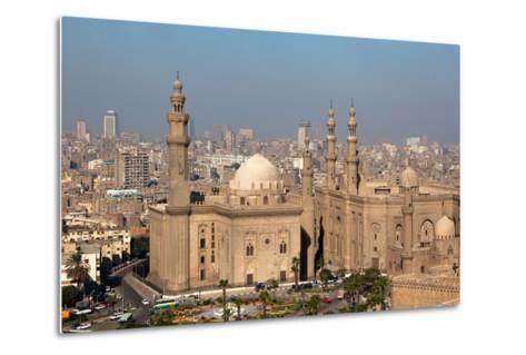 Egypt, Cairo, Citadel, View at Mosque-Madrassa of Sultan Hassan-Catharina Lux-Metal Print