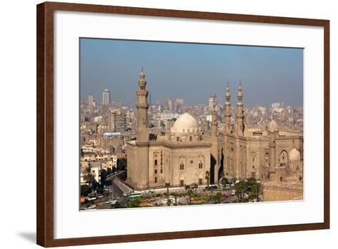 Egypt, Cairo, Citadel, View at Mosque-Madrassa of Sultan Hassan-Catharina Lux-Framed Art Print