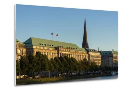 Hamburg, the Inner Alster, Hapag House-Catharina Lux-Metal Print