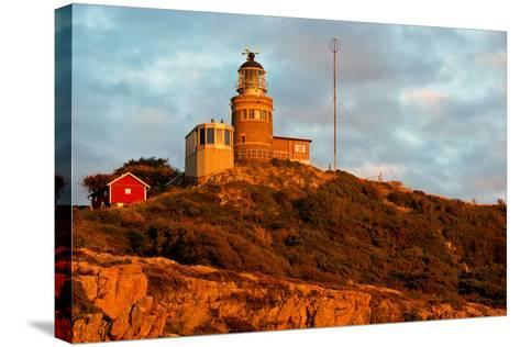Lighthouse in the Nature Conservation Reserve Kullaberg, Scania, South of Sweden-Thomas Ebelt-Stretched Canvas Print