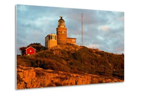 Lighthouse in the Nature Conservation Reserve Kullaberg, Scania, South of Sweden-Thomas Ebelt-Metal Print