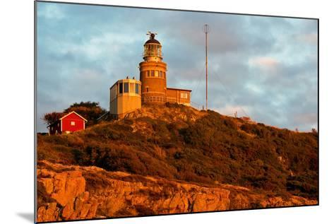 Lighthouse in the Nature Conservation Reserve Kullaberg, Scania, South of Sweden-Thomas Ebelt-Mounted Photographic Print