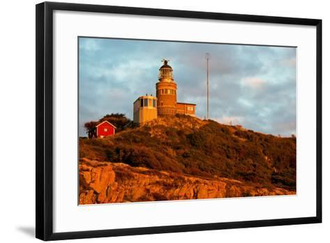 Lighthouse in the Nature Conservation Reserve Kullaberg, Scania, South of Sweden-Thomas Ebelt-Framed Art Print