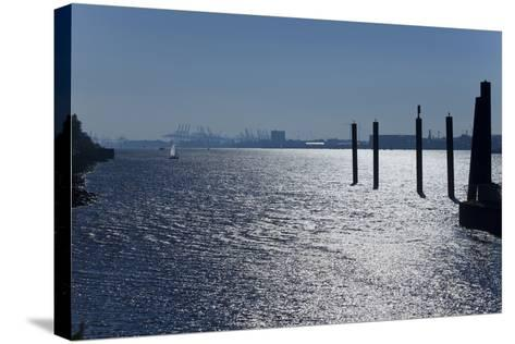 Europe, Germany, Hamburg, Hamburg Harbour, Lading Port-Chris Seba-Stretched Canvas Print