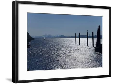 Europe, Germany, Hamburg, Hamburg Harbour, Lading Port-Chris Seba-Framed Art Print