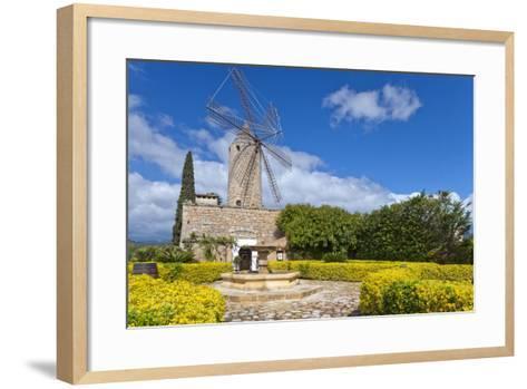 Europe, Spain, the Balearic Islands, Island Majorca, Windmill, Restaurant-Chris Seba-Framed Art Print