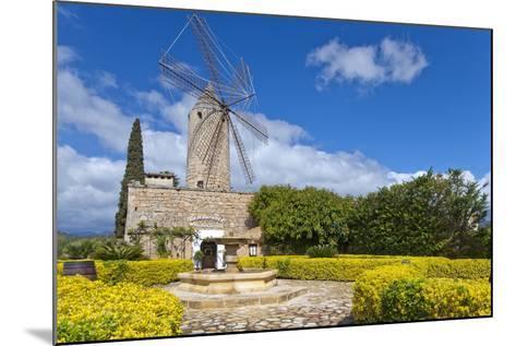 Europe, Spain, the Balearic Islands, Island Majorca, Windmill, Restaurant-Chris Seba-Mounted Photographic Print