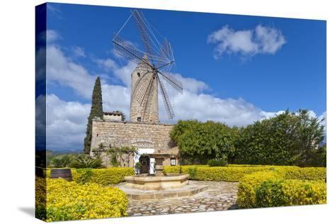 Europe, Spain, the Balearic Islands, Island Majorca, Windmill, Restaurant-Chris Seba-Stretched Canvas Print