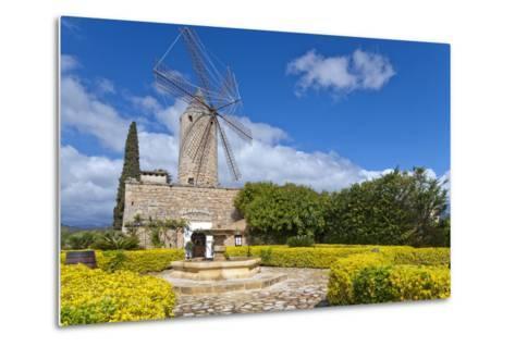 Europe, Spain, the Balearic Islands, Island Majorca, Windmill, Restaurant-Chris Seba-Metal Print