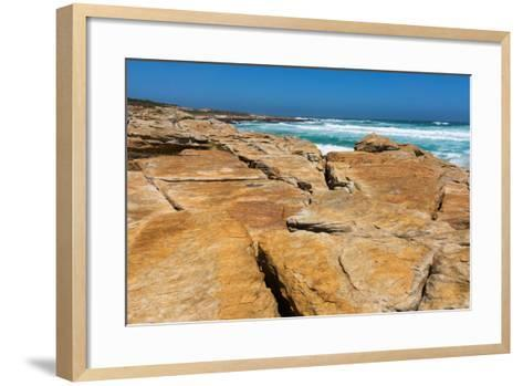 South Africa, the Cape of Good Hope, Rocky Shore-Catharina Lux-Framed Art Print