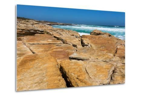 South Africa, the Cape of Good Hope, Rocky Shore-Catharina Lux-Metal Print