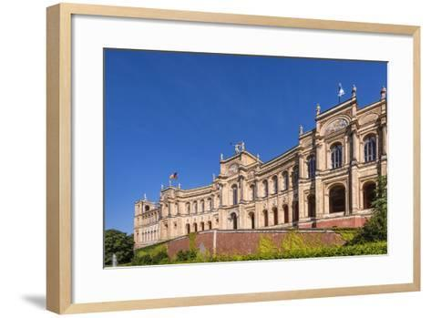 Germany, Bavaria, Upper Bavaria, Munich, Haidhausen District, Maximilianeum, Bavarian Parliament-Udo Siebig-Framed Art Print