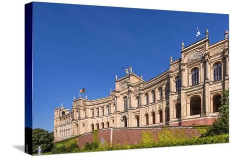 Germany, Bavaria, Upper Bavaria, Munich, Haidhausen District, Maximilianeum, Bavarian Parliament-Udo Siebig-Stretched Canvas Print