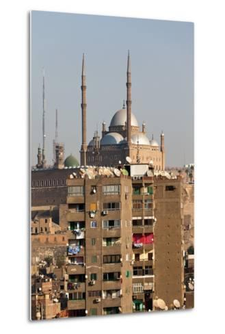 Egypt, Cairo, View from Mosque of Ibn Tulun on Old Town and Citadel-Catharina Lux-Metal Print