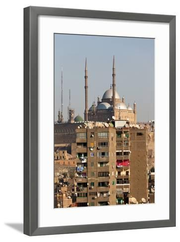 Egypt, Cairo, View from Mosque of Ibn Tulun on Old Town and Citadel-Catharina Lux-Framed Art Print