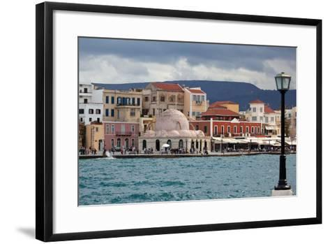 Greece, Crete, Chania, Venetian Harbour, Mosque-Catharina Lux-Framed Art Print