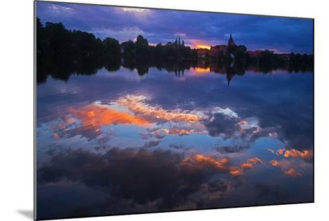 Evening Mood at the M?llner Schulsee Lake-Thomas Ebelt-Mounted Photographic Print