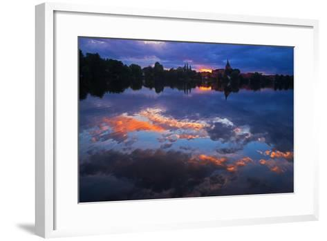Evening Mood at the M?llner Schulsee Lake-Thomas Ebelt-Framed Art Print