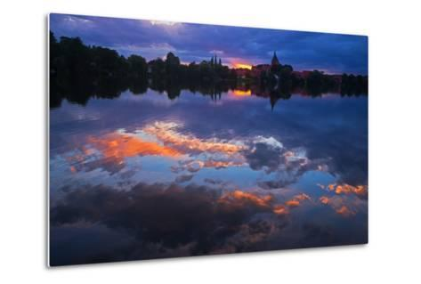 Evening Mood at the M?llner Schulsee Lake-Thomas Ebelt-Metal Print