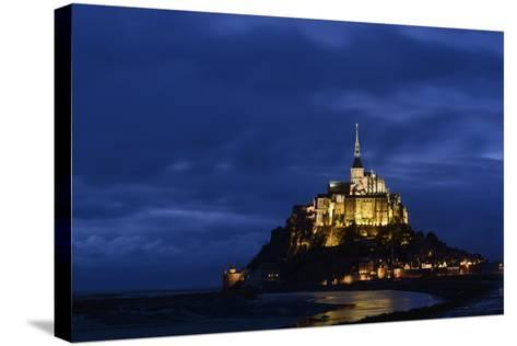 France, Lower Normandy, Manche, Mont Saint Michel by Night-Andreas Keil-Stretched Canvas Print
