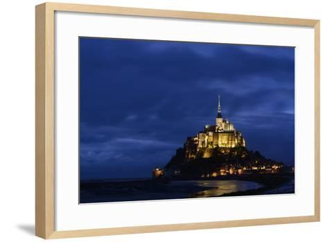 France, Lower Normandy, Manche, Mont Saint Michel by Night-Andreas Keil-Framed Art Print