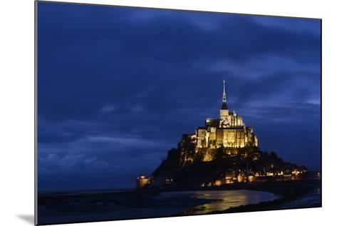 France, Lower Normandy, Manche, Mont Saint Michel by Night-Andreas Keil-Mounted Photographic Print
