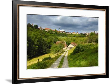 Germany, Bavaria, Central Franconia, Rothenburg Ob Der Tauber, Townscape, Cloudy Sky-Andreas Vitting-Framed Art Print