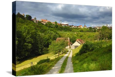 Germany, Bavaria, Central Franconia, Rothenburg Ob Der Tauber, Townscape, Cloudy Sky-Andreas Vitting-Stretched Canvas Print