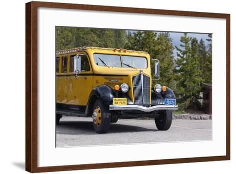 USA, Yellowstone National Park, Park Vehicle-Catharina Lux-Framed Art Print