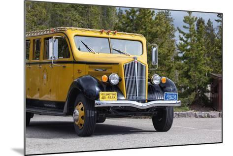 USA, Yellowstone National Park, Park Vehicle-Catharina Lux-Mounted Photographic Print